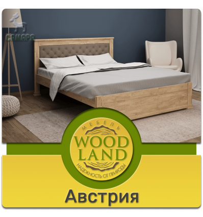 Кровать из дуба мягким изголовьем - Австрия