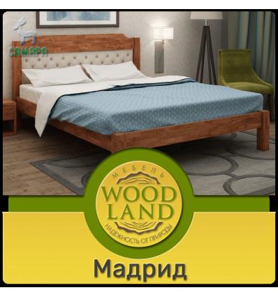 Кровать из дуба с мягким изголовьем - Мадрид