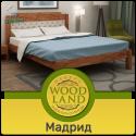 """Экологичная кровать из дерева """"Мадрид"""""""