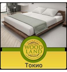 Кровать подиум из массива дуба Токио
